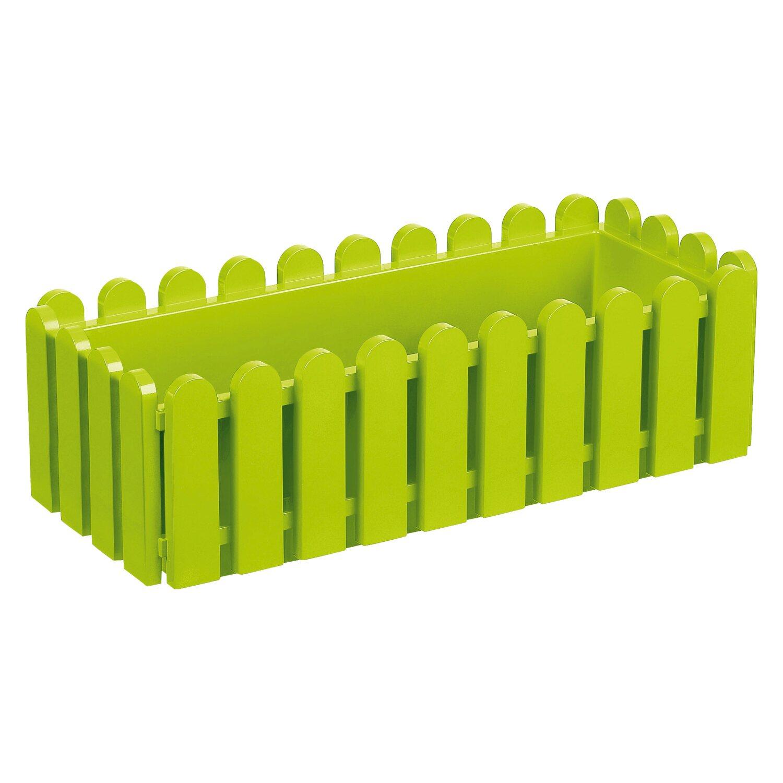 Emsa  506-416 Blumenkasten LANDHAUS, Kunststoff PP, 50x20x16cm, grün (1 Stück)
