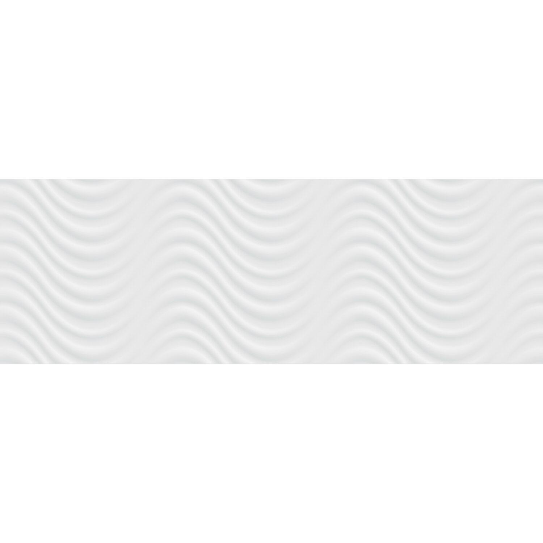 Wandfliese Duna Weiß 3D 30 cm x 90 cm