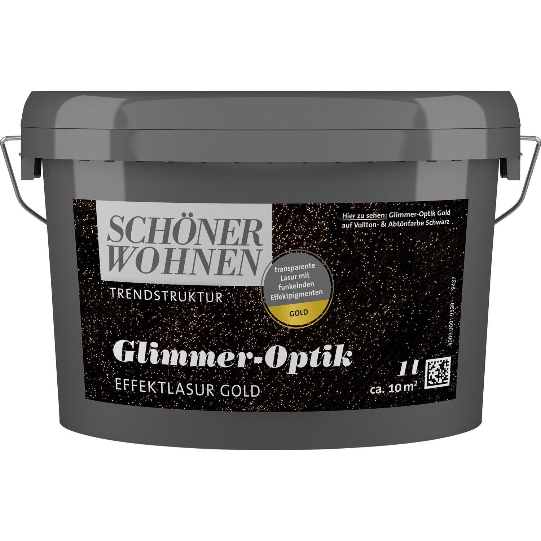 Schöner Wohnen Trendstruktur Glimmer-Optik Gold 1 l