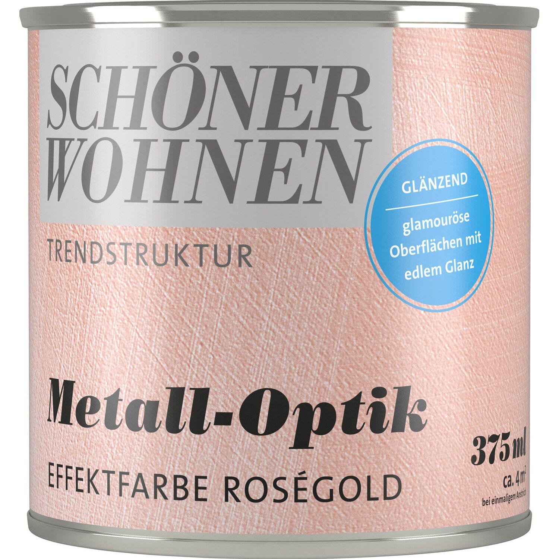 sch ner wohnen trendstruktur metall optik rosegold 375 ml. Black Bedroom Furniture Sets. Home Design Ideas