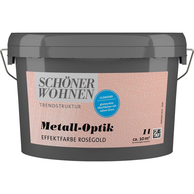 Schöner Wohnen Trendstruktur Metall-Optik Rosegold 1 L