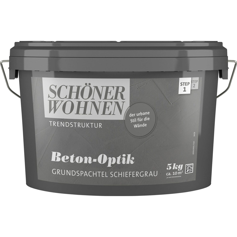 Schöner Wohnen Trendstruktur Beton-Optik Schiefergrau 5 kg