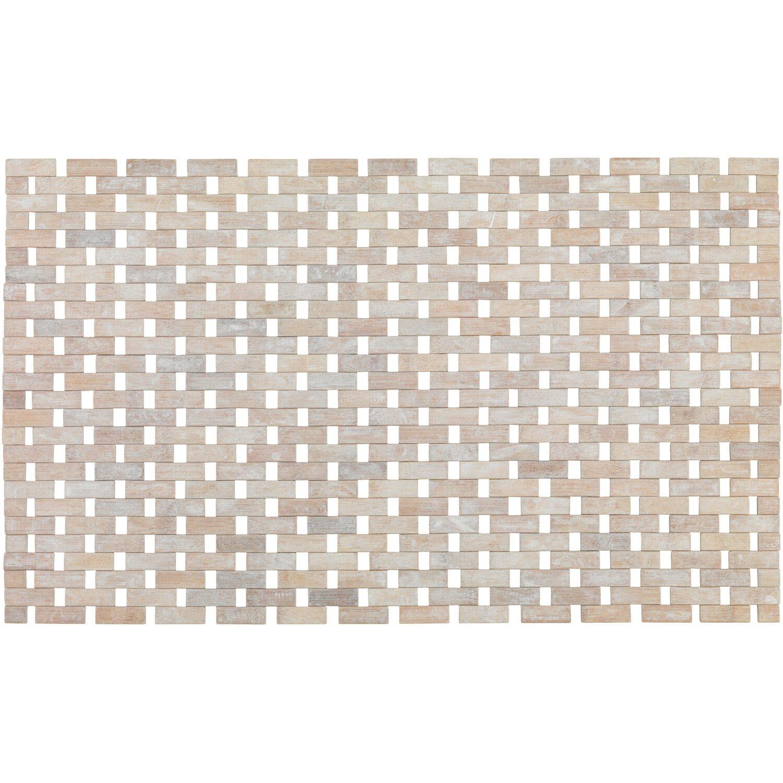 Wenko Badematte Bamboo 50 cm x 80 cm Weiß Preisvergleich