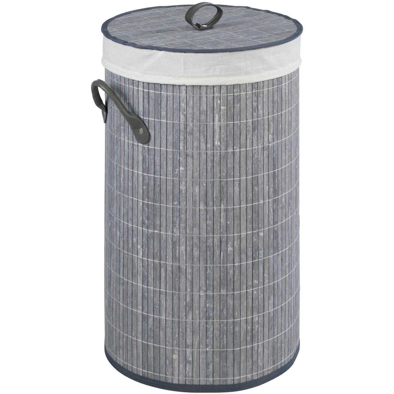 Wenko Wäschetruhe Bamboo 55 l Grau Preisvergleich