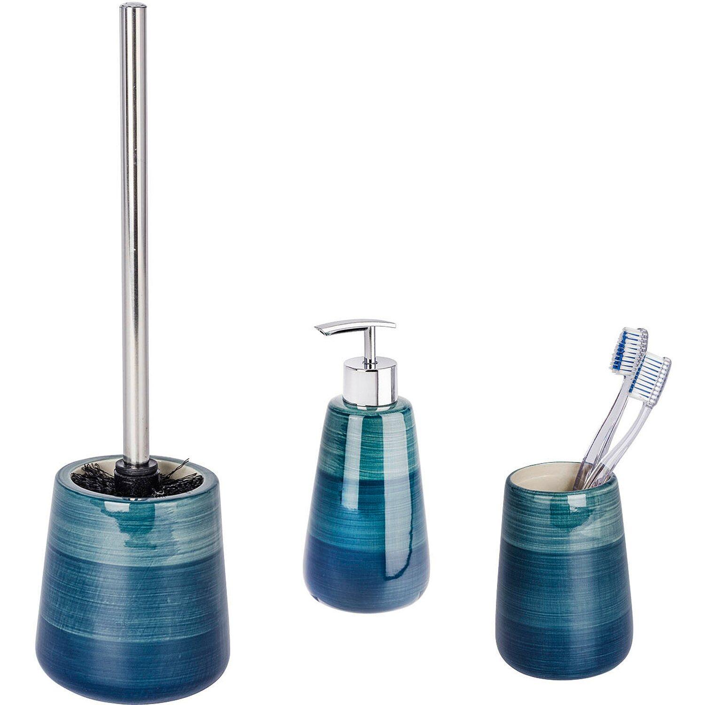 Wenko Bad Accessoires Set Pottery 20 teilig Petrol kaufen bei OBI