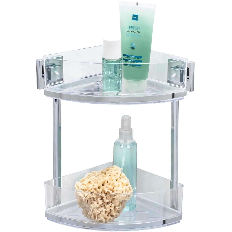 Wenko Vacuum-Loc® Eckregal Quadro Edelstahl 2 Etagen