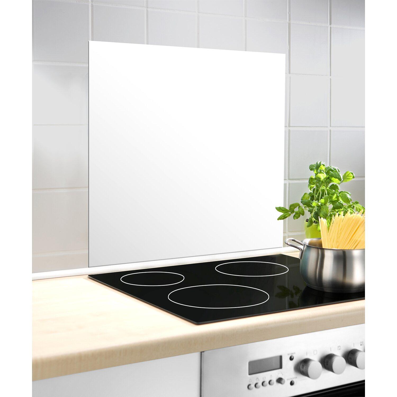Wenko Glasrückwand Weiß 15 cm x 15 cm