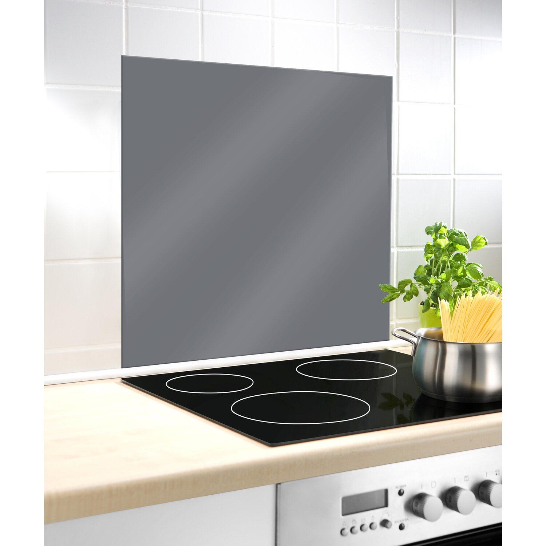 Wenko Glasrückwand Grau 60 cm x 70 cm