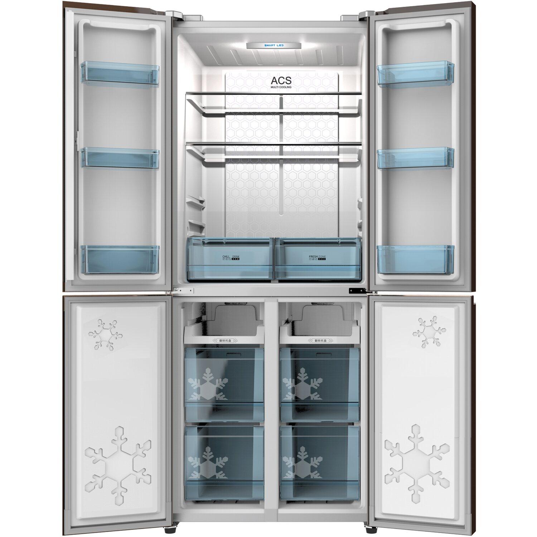 cross door side by side k hl gefrierkombination scd400a. Black Bedroom Furniture Sets. Home Design Ideas
