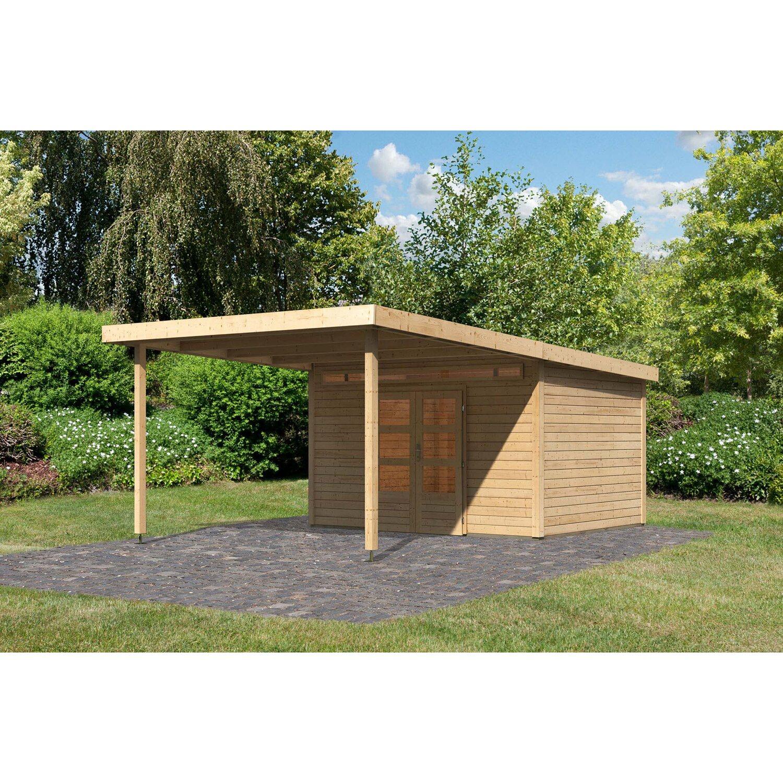 Karibu Holz Gartenhaus Sombra 9 Natur Bxt 360 X 592 Cm Davon 292 Cm