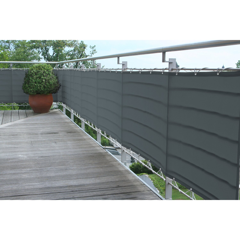 Polyester Balkonumrandung 65 X 300 Cm Anthrazit Kaufen Bei Obi