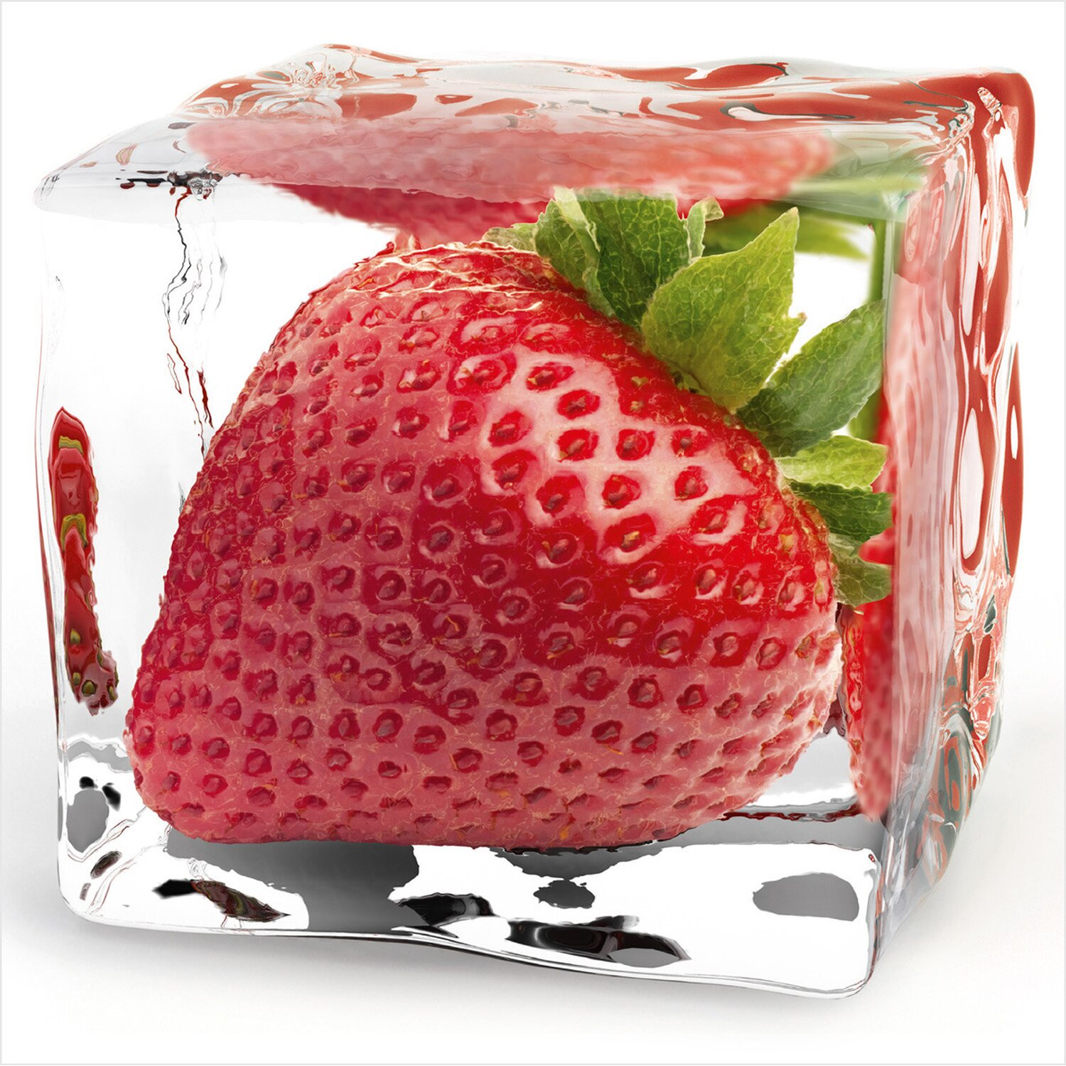 eurographics deco glass iced strawberry 20 cm x 20 cm. Black Bedroom Furniture Sets. Home Design Ideas