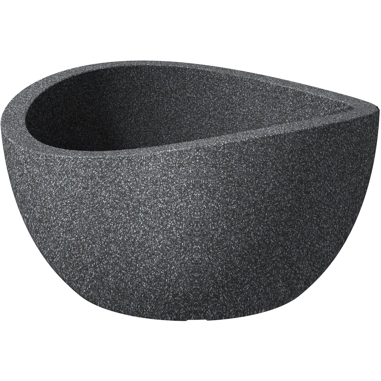 Scheurich Pflanzschale Wave Globe Bowl Ø 39 cm Schwarz Granit