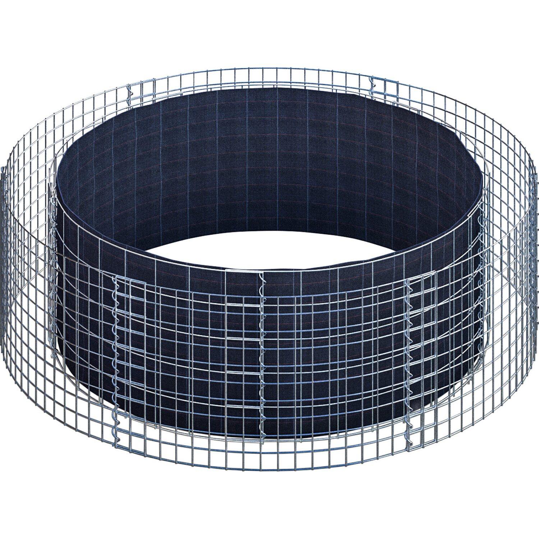 gabiona gabionen hochbeet rund 172 cm h he 50 cm. Black Bedroom Furniture Sets. Home Design Ideas