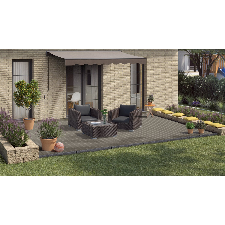 kovalex wpc terrassendiele geb rstet grau 2 6 cm x 14 5 cm meterware kaufen bei obi. Black Bedroom Furniture Sets. Home Design Ideas