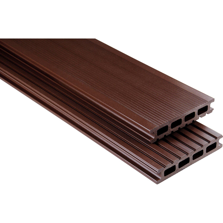 kovalex wpc terrassendiele glatt schokobraun 2 6 cm x 14 5 cm meterware kaufen bei obi. Black Bedroom Furniture Sets. Home Design Ideas