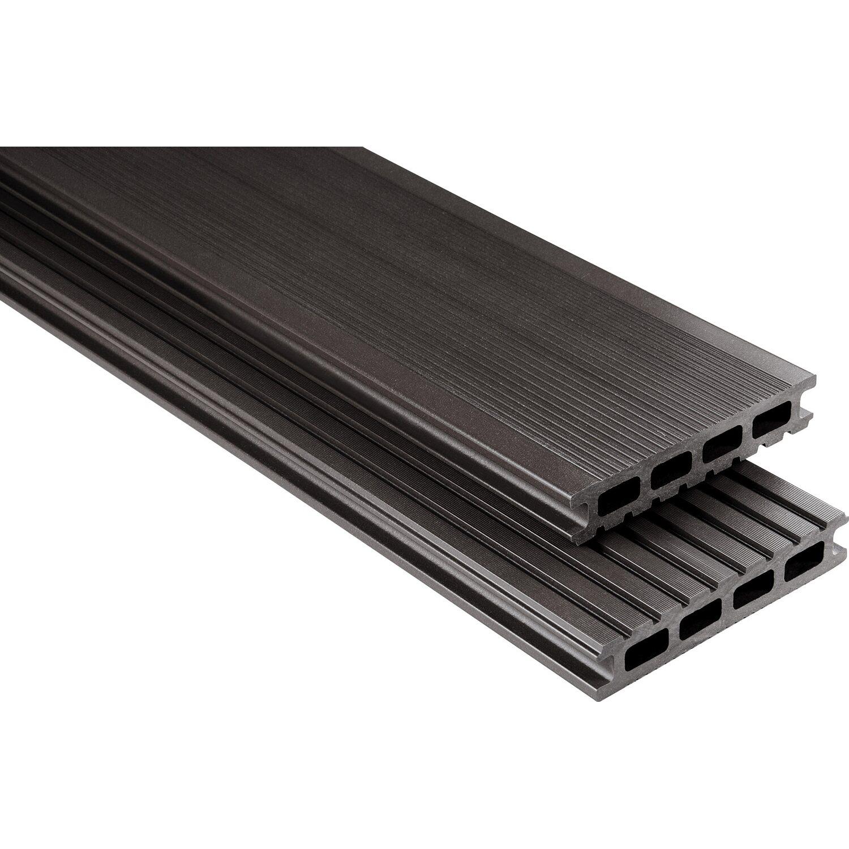 kovalex wpc terrassendiele glatt graubraun 2 6 cm x 14 5 cm meterware kaufen bei obi. Black Bedroom Furniture Sets. Home Design Ideas