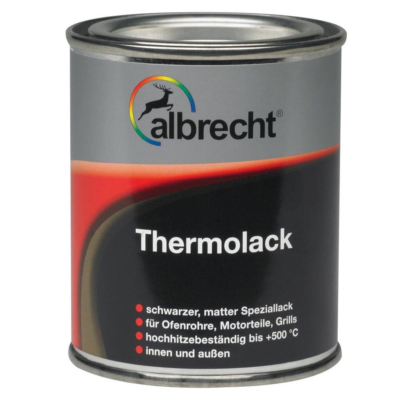 Albrecht  Thermolack Schwarz matt 125 ml