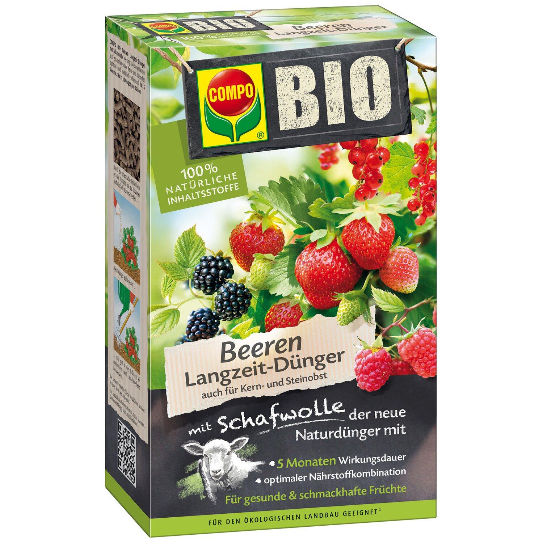 Compo  Bio Beeren Langzeit-Dünger mit Schafwolle 750 g