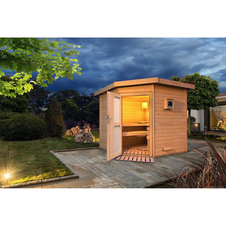 Karibu Saunahaus Thorben, Bio-Ofen, externe Steuerung Easy, Milchglastür | Baumarkt > Bad und Sanitär | Karibu