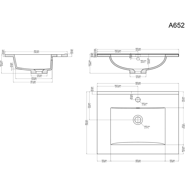 Posseik Badmöbel-Se Homeline 60 cm Weiß Hochglanz 3-teilig EEK: A++