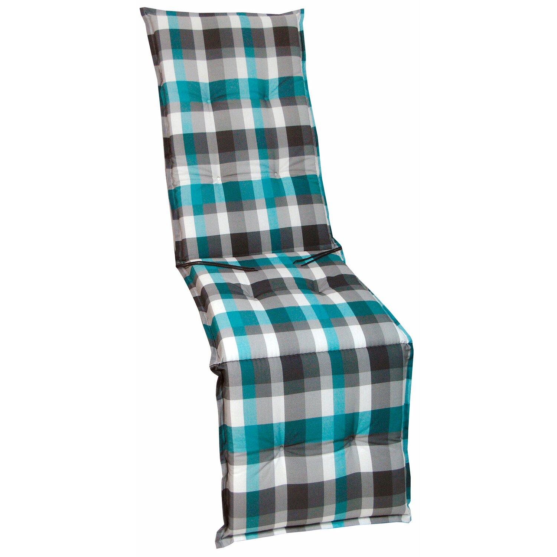 relax auflage langeoog t rkis grau kariert kaufen bei obi. Black Bedroom Furniture Sets. Home Design Ideas