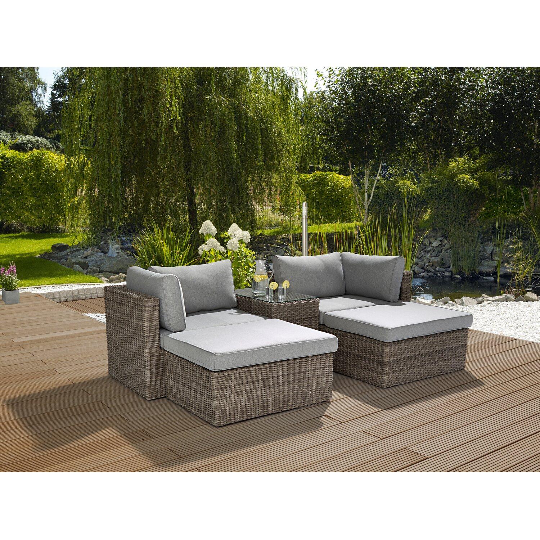 5-tlg Garten Bistro-Set Sitzgruppe Gartenganitur Balkonset Poly Rattan 2 Farbe