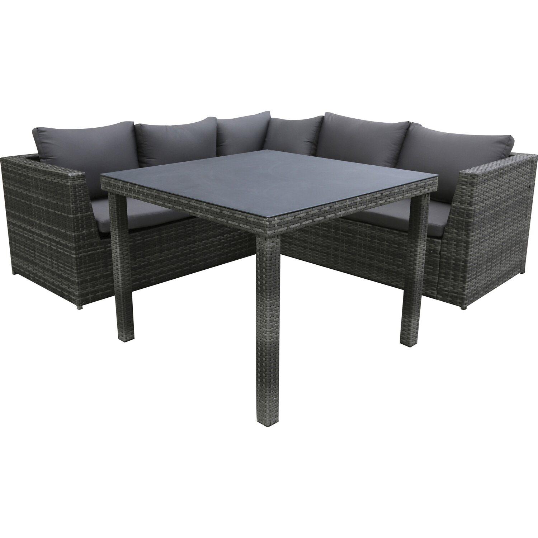 Favorit Esstisch Lounge-Gruppe Tuscola Polyrattan Grau 3-teilig kaufen bei OBI SS77