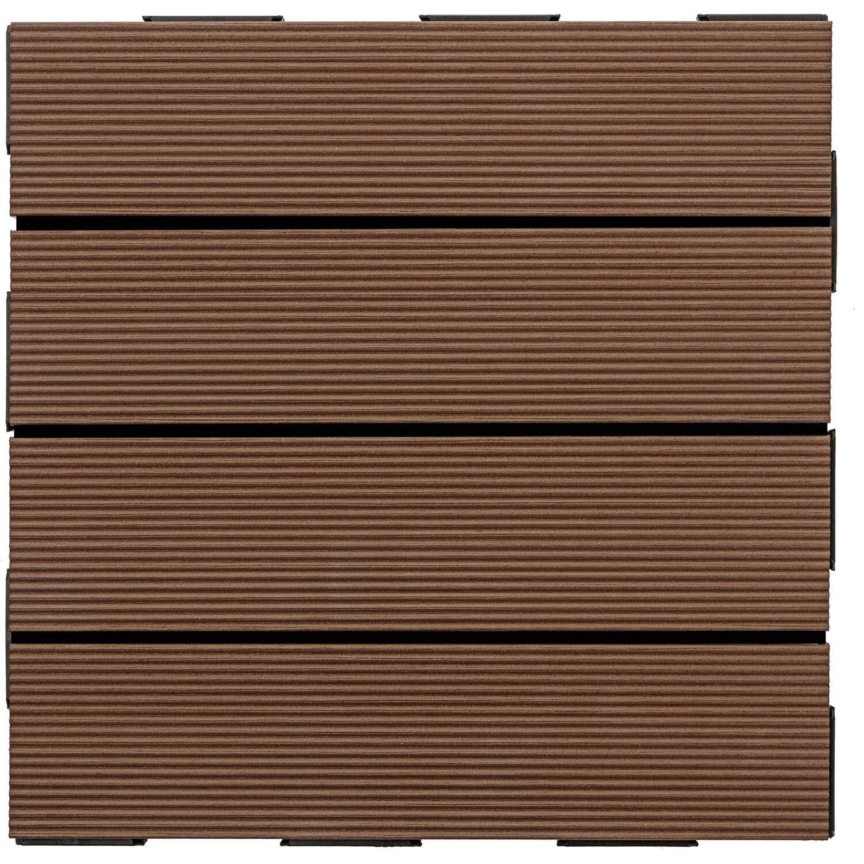 set wpc klick fliesen set 30 cm x 30 cm braun 6 st ck kaufen bei obi. Black Bedroom Furniture Sets. Home Design Ideas