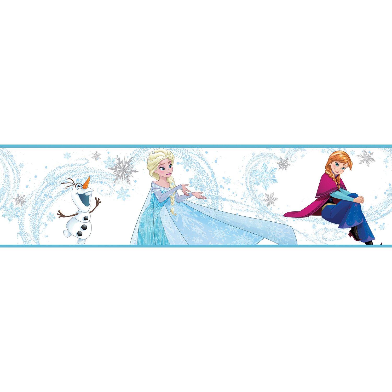 Selbstklebende Bordüre Disney Die Eiskönigin Anna, Elsa und Olaf