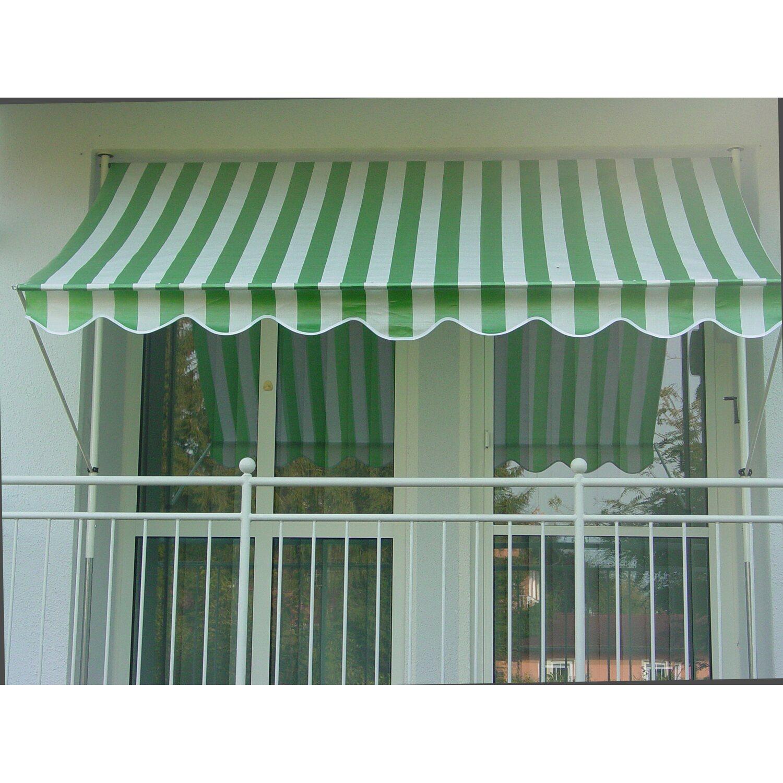 großer Rabattverkauf Ausverkauf süß billig Angerer Klemmmarkise Standard Grün/Weiß 150 cm x 150 cm