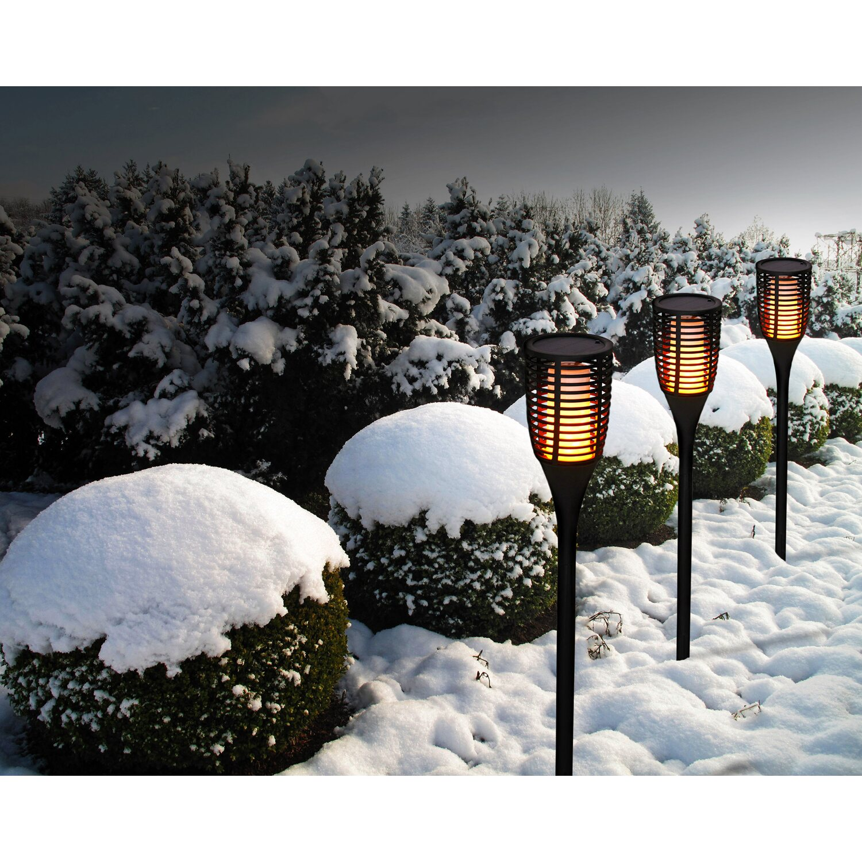 Näve LED-Solarleuchte Fackel mit Erdspieß 78 cm