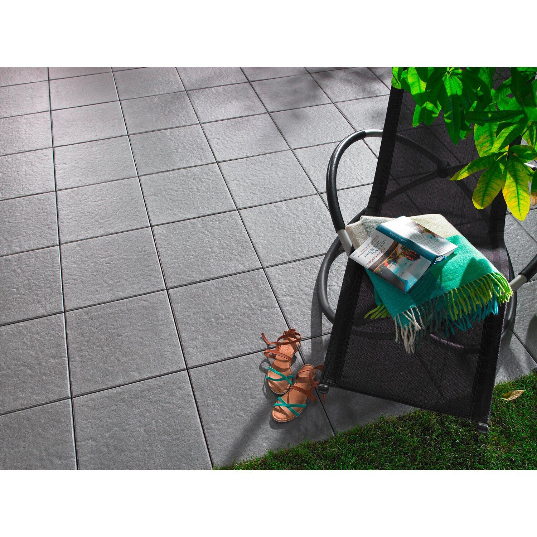 terrassenplatte beton sintra grau 40 cm x 40 cm komplett. Black Bedroom Furniture Sets. Home Design Ideas