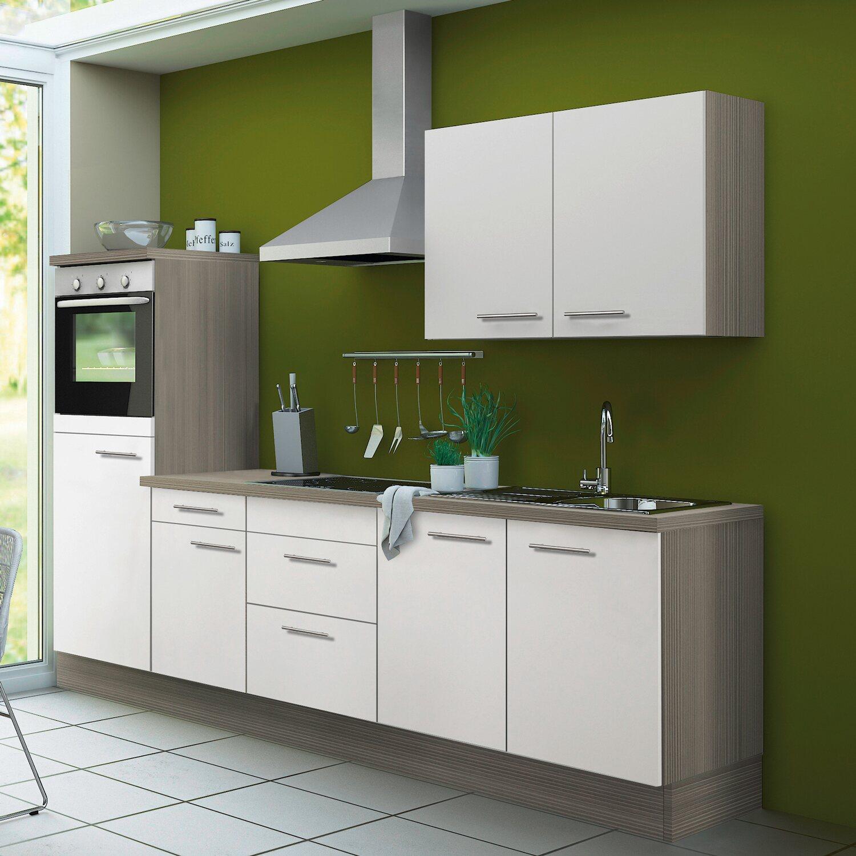 Optifit Küchenzeile Torger KCTO2751E-8 270 cm Weiß-Pinie Nougat ...