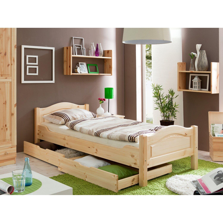 Einzelbett Rita Kiefer Natur 90 cm x 200 cm | Schlafzimmer > Betten > Funktionsbetten
