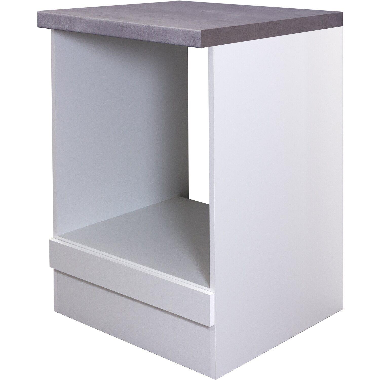 Flex-Well Exclusiv Herdumbauschrank Joelina 60 cm Weiß