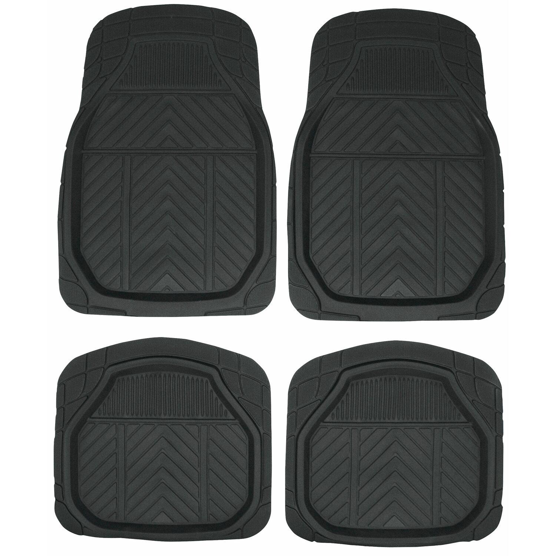 Apa Fußmatten-Set PVC Schwarz Schneeschale