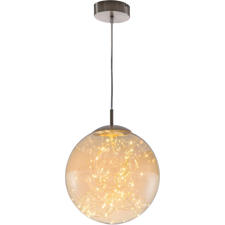 nino leuchten led pendel lights nickel 1 flammig eek a. Black Bedroom Furniture Sets. Home Design Ideas