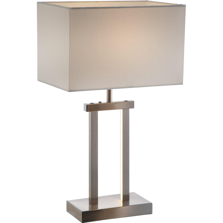 nino leuchten led tischleuchte sydney nickel matt eek a. Black Bedroom Furniture Sets. Home Design Ideas