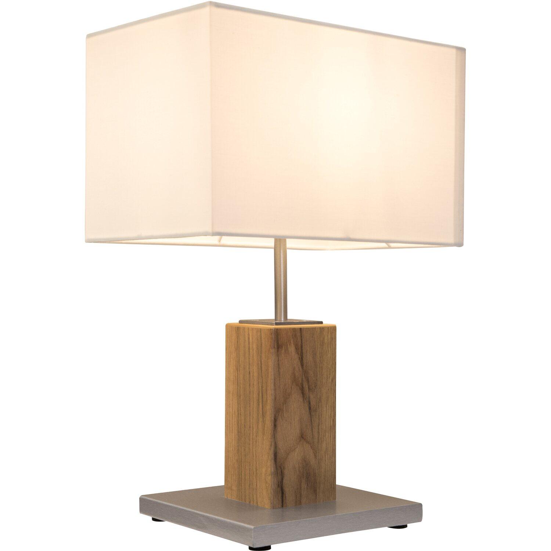 Nino Leuchten Tischleuchte Gump Eiche hell Silberfarbig EEK: E-A++ | Lampen > Tischleuchten | Nino Leuchten
