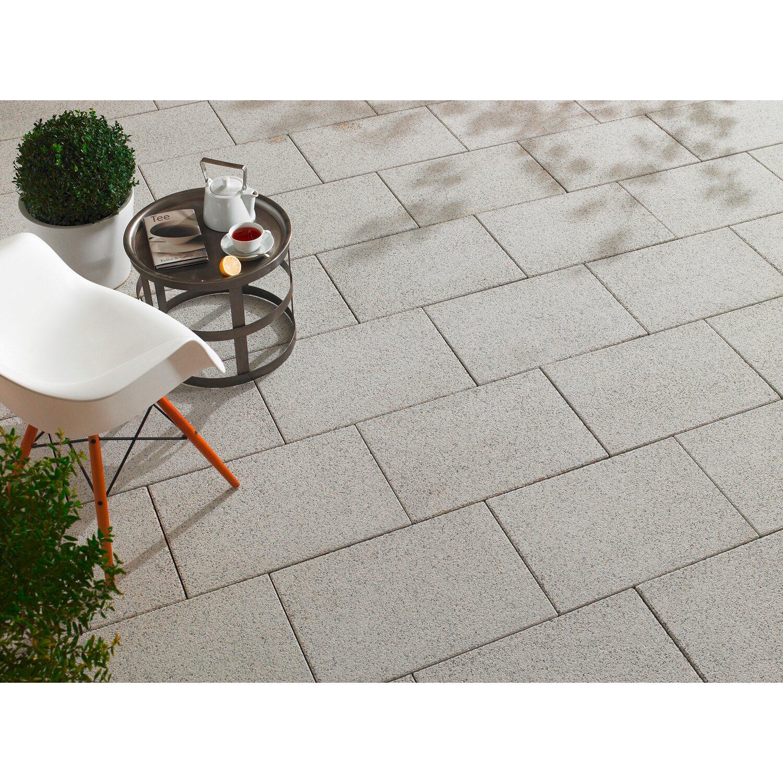 Terrassenplatte Beton Mailand WeißSchwarz Wassergestrahlt Cm X - Gehwegplatten 60 x 40 beton
