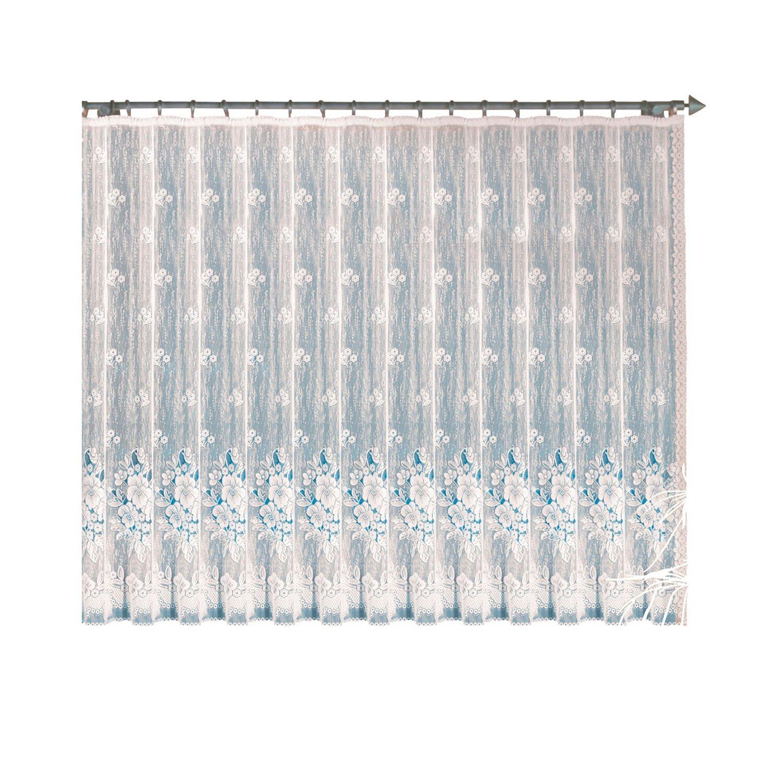 Langstore mit Faltenband Weiß 160 cm x 300 cm