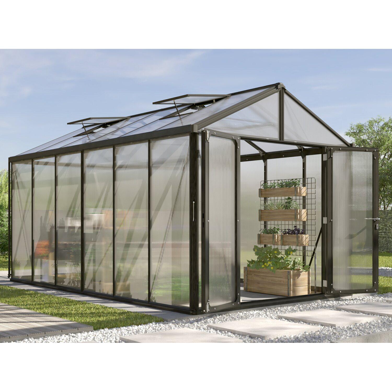 Vitavia Gewächshaus Zeus Comfort 11900 HKP16mm Schwarz   Garten > Gewächshäuser   Vitavia