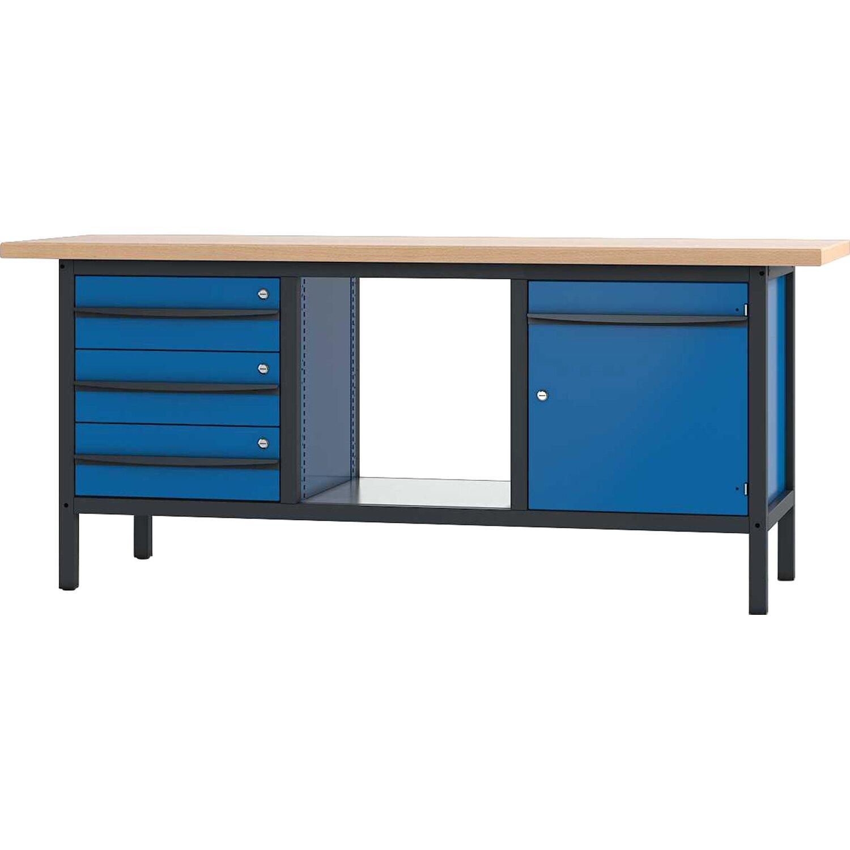 pador werkbank 1 t r 3 schubladen 200 cm kaufen bei obi. Black Bedroom Furniture Sets. Home Design Ideas