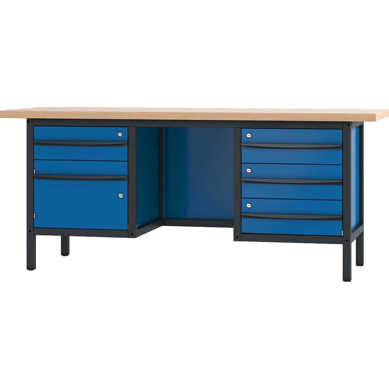 pador werkbank 1 t r 4 schubladen 200 cm kaufen bei obi. Black Bedroom Furniture Sets. Home Design Ideas