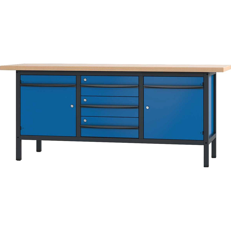 pador werkbank 2 t ren 3 schubladen 200 cm kaufen bei obi. Black Bedroom Furniture Sets. Home Design Ideas