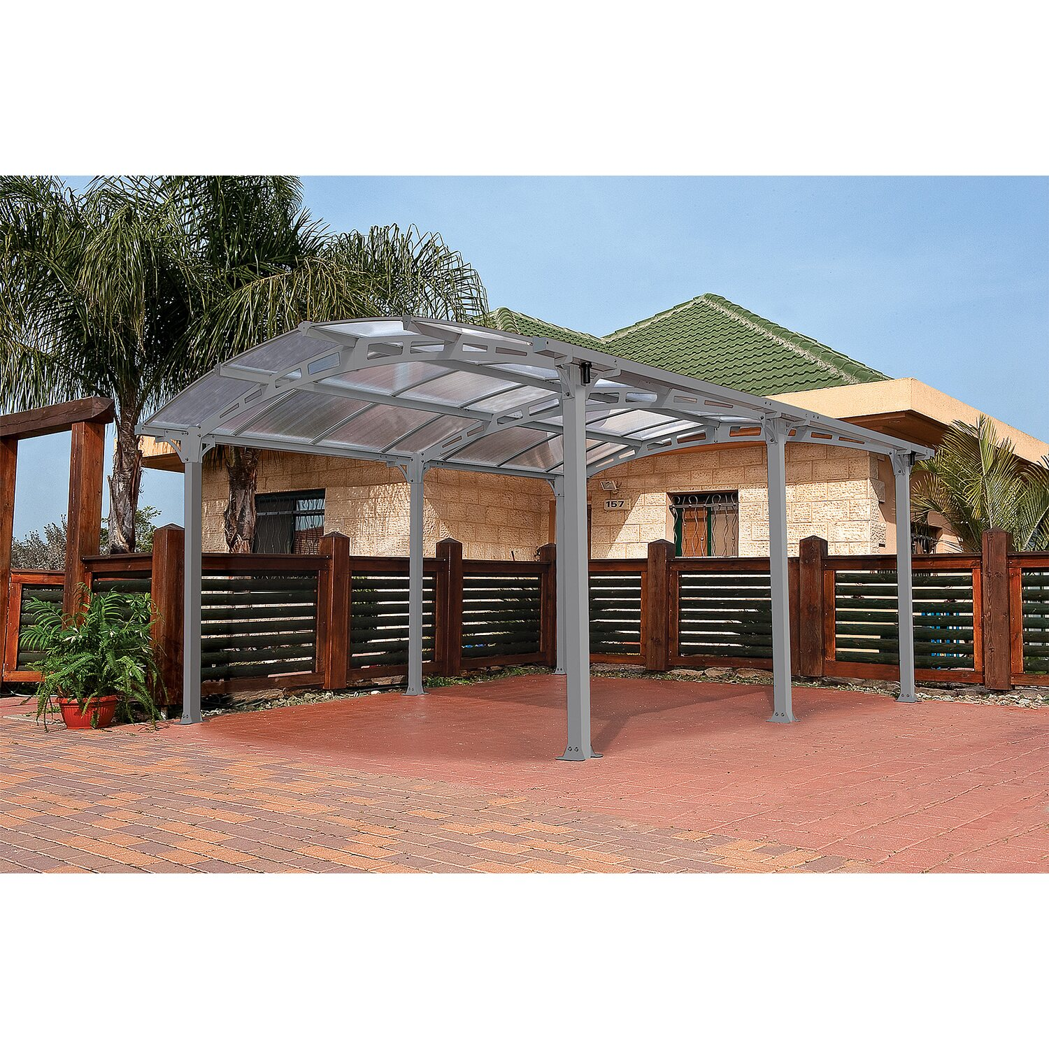 tepro carport arcadia 5000 mit bogendach inkl regenrinne kaufen bei obi. Black Bedroom Furniture Sets. Home Design Ideas