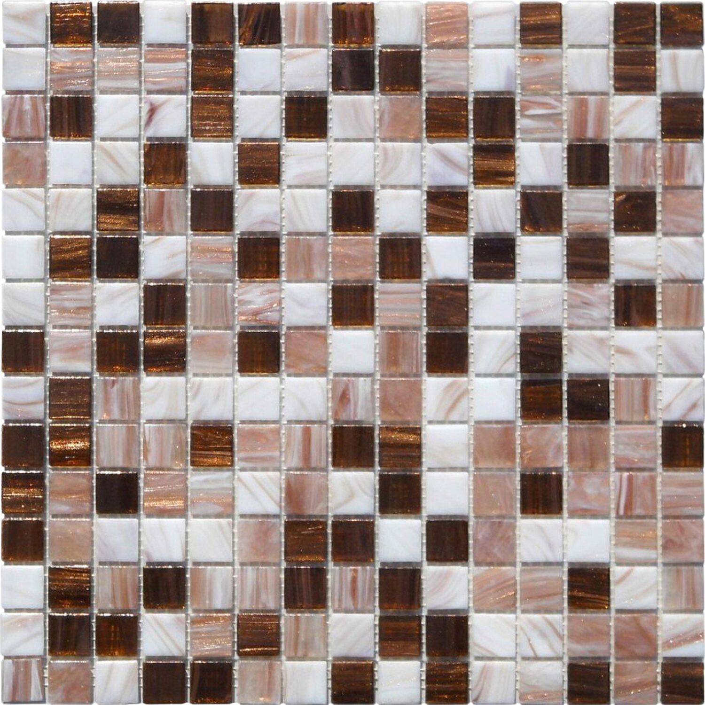 Sonstige Glasmosaikmatte Perlmut Kupfer beige 32,7 cm x 32,7 cm