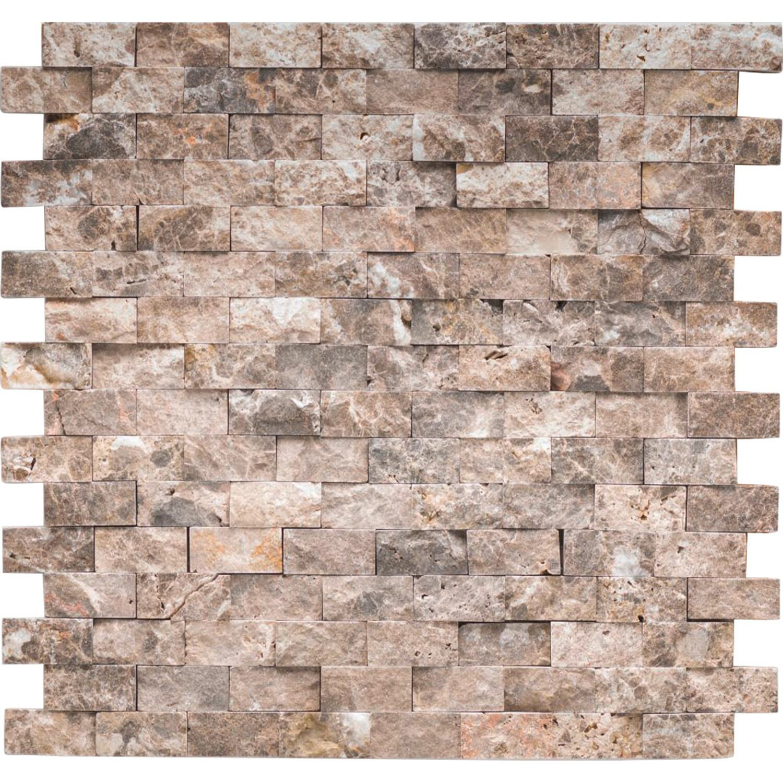 marmormosaik marron emperado brick natural 32 cm x 32 cm kaufen bei obi. Black Bedroom Furniture Sets. Home Design Ideas