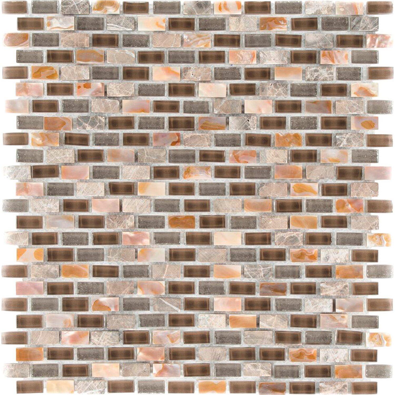Sonstige Mosaik Glas Stein 5th Avenue Dark 28,5 cm x 28,5 cm